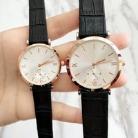 Wholesale couples wristwatches resale online - 2018Hot sale High Quality Luxury Man women brand watch Fashion lady dress watch Male clock Lover couple wristwatch Popular classic New watch