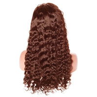 hair color light brown Australia - 130%150%180%density full lace wigs Lace Front wigs Curly #2#4 light dark brown color with baby hair Pre Plucked Natural Hairline