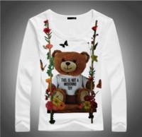 venta de ropa de dama al por mayor-2018 última venta caliente de las mujeres de la señora de la mujer nueva marca de ropa de moda camiseta ocasional de algodón creativo camiseta TopsTees oso de juguete