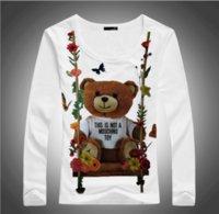 kız giysileri satılık toptan satış-2018 Son Sıcak Satış kadın lady Kız Yeni Marka Giyim Moda Rahat T-shirt Kadın Pamuk Yaratıcı tshirt TopsTees Oyuncak Ayı