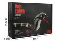 cobra de juguete al por mayor-Control remoto por infrarrojos Naja Cobra Snake Kids Operación con batería Juguetes de carga USB Simulación Eléctrica Regalo difícil