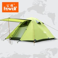 Wholesale Tent Rainproof - Double Layer 3 4 Person Tents Rainproof Waterproof Outdoor Camping Tent Tourist Tent For Hunting Picnic Party Hiking Camping New