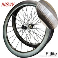 Wholesale Road Bike Wheel Rims - Tubeless New 2 year warranty 58mm dimple wheelset 45 404 carbon wheels 50 bike rim 80 clincher wheelset