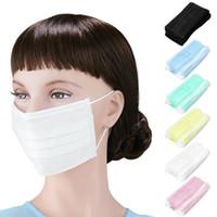 anti-nebel-staubmaske großhandel-50 Teile / los 4-schicht aktivkohle anti fog staub einwegmasken