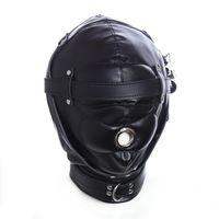 bıkmış maske esaret toptan satış-BDSM Kölelik Restraint Hood Maskesi Nefes Gag, Kulaklara Ve Gözlere Yastıklı, Karartma Maskesi Körü Körüne Erotik Oyuncaklar Mağazası