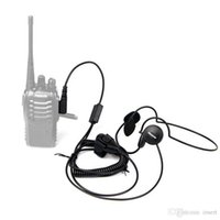 h777 walkie al por mayor-Nuevo 2 Pin Mic Finger PTT Headset para Kenwood Baofeng uv 5r H777 888s HYT PUXING Walkie Talkie CB Radio