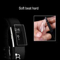zubehör armbänder großhandel-Hangrui HD Displayschutzfolie für Fitbit Charge 2 charge2 Armband TPU Ultra Thin Explosionsschutzfolie Smartwatch Zubehör