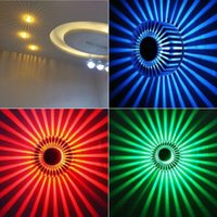 Wholesale Deco Art Glass Stain - LED Wall Lamps 3W Sunflower Ceiling Creative Light Sconce Aluminum Colorful Porch Aisle Lamp Decor Lighting Warm White