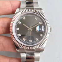 Wholesale original options - High Quality Diamond Watch 41MM Dial Sapphire Mirror Oyster Automatic Movement Original Folding Buckle 4 Color Options