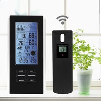 Wholesale weather station wireless sensors resale online - LED Backlight Wireless Weather Station Sensor Temperature Humidity Barometer RCC with Indoor Outdoor Thermometer Hygrometer Clock TS