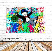 nackter kunstmann großhandel-Rich Man, Leinwand Gemälde Wohnzimmer Wohnkultur Moderne Wandbild Kunst Ölgemälde