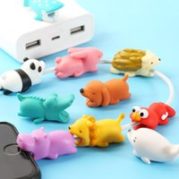 Wholesale Cable Bite USB Cable Saver Protector Cover Wire Cord Cute Animal Design Charging Cord Protective for iPhone Lightning Type C OTH492