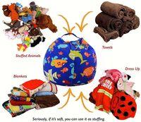 Wholesale Clothing Storage - Kids Storage Bean Bags 16'' 18'' Plush Toys Beanbag Chair Bedroom Stuffed Animal Room Mats Portable Clothes Storage Bag