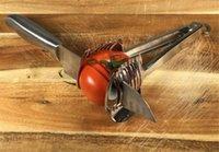 werkzeuge hacken gemüse großhandel-Multifunktionsschneiden Obst Gemüse Werkzeuge für Grill Picknick Küche zerkleinert Scheibe Sticks Chop Welle 5 Arten von Klinge Lebensmittelqualität