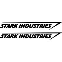 graphiques de voiture blanche achat en gros de-Vente chaude cool graphiques Stark Industries autocollant vinyle Decal Marvel Iron Man Avengers fenêtre de voiture voiture Stying JDM