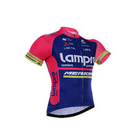 Wholesale lampre team clothes for sale - 2017 lampre pro team cycling jersey Quick Dry bike clothing mtb bicycle shirt quick dry men Tour de France cycling clothing maillot ciclismo