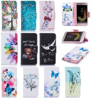 Wholesale cute chinese wallets - For LG G7 (K8 K10 Galaxy J2 PRO)2018 Flower Butterfly Leather Wallet Case For Huawei P Smart,Y9 2018,Honor 7C, Tree Panda Cute Cartoon Pouch