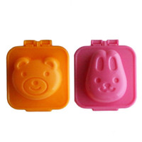 Wholesale Embossing Rolling - Sushi Mould Rabbit Bear Rice And Vegetable Roll DIY Bread Cake Biscuits Embossing Device Plastic Mold ECO Friendly 2 5sr V