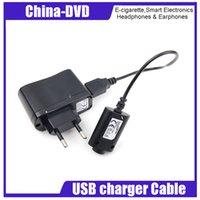 ingrosso regolazione elettronica della sigaretta-Set caricabatterie elettronico Cavo caricatore USB US / EU / AU Adattatore a muro per sigaretta EGO e EGO-CE4 / T / K / W