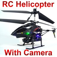 camara para control remoto de helicoptero al por mayor-Control remoto juguetes video Metal Gyro 3.5 CH RC helicóptero con cámara w9 s977 ID2 FSWB
