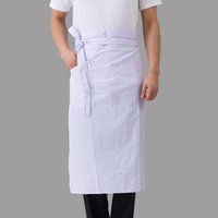 талии кухонные фартуки оптовых-Cleaning Kitchen Cook Apron Restaurant Hotel Bar Unisex Waist Apron Waiter Server Chef Cooking Work Half Body