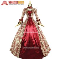 Wholesale period clothing for sale - Top Sale Georgian Victorian Gothic Period Dress Prom Gown Reenactment Theatre Clothing