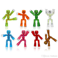 Wholesale Action Plays - StikBot Figure Action Figure Animation Toy Role Play Accessory StikBot Figures Solid Colors Assortment Kids Novelty Toys 2101