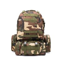 Wholesale military bags online - High Capacity Mountaineering Bag Man Outdoors Nylon Water proof Military Tactical Backpack Multi Function Camouflage Travelling Bags df Ww