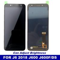lâmina de laranja zte venda por atacado-J600 lcd substituição para samsung galaxy j6 2018 j600 j600f / ds j600g / ds display lcd touch screen digitador pode ajustar o brilho
