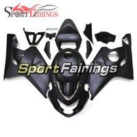 mattschwarze motorradverkleidungen großhandel-Für Suzuki GSXR600-750 K4 2004 - 2005 Komplette Verkleidungen ABS Einspritzung Motorrad Matte Black Fairings