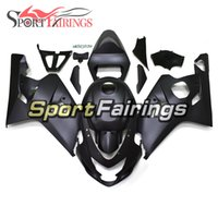 carenados de moto negro mate al por mayor-Para Suzuki GSXR600-750 K4 2004 - 2005 Carenados completos ABS Injection Motocicleta Matte Black Fairings
