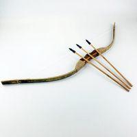 2a95bb7c2 Arcos y flechas Set Niños nostálgicos Niños Juguete de madera Armas  tradicionales Interesante Juguetes divertidos Tendencia Regalo de moda para  3-14 años de ...
