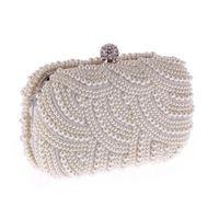 sac à main noir blanc achat en gros de-100% fait à la main de luxe pochette embrayage femmes sac à main diamant chaîne blanche sacs de soirée pour la fête de mariage noir Bolsa Feminina