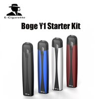 Wholesale Disposable Atomizer Kits - Original Boge Y1 Starter Kit Disposable Pods Vaporizer Starter Kit 650mah Boge Y1 Vape Pen With 4 Cartridges Pods Atomizer eCigs Ki