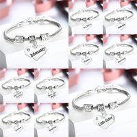 Wholesale dad bracelet for sale - Group buy Wedding Jewelry Bridal Bracelet Sister Nana Dad Mom Bridesmaid Family Vintage Crystal Heart Retro Bracelets Party Decoration rq bb