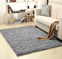 Wholesale shaggy bedroom rugs - Free Shipping Bedroom Rug Shaggy Anti-Skid Flokati Living Kitchen Bath Fluffy Mat Dining Room Carpet Car Floor Door Mat,12 Colors,5 Sizes