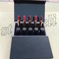 ingrosso campioni di rossetto-Famous Lip Makeup Set Kollection Dimensione del campione Lip Matte Rossetto labbra kit 5 pezzi / set con scatola