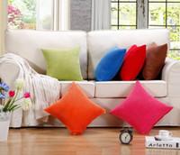 office decor color toptan satış-Yeni Saf Renk Muhtasar Kadife Kare Mısır Tahıl Şekilli Yastık Araba Ofis Kanepe Dekor Minder Örtüsü