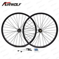 Wholesale 29er front wheel - Top quality carbon wheels toray t800 bicycle wheels 26 matte or glossy 3K 12K UD 29er carbon mtb wheels