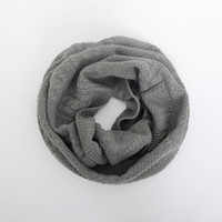Wholesale infinity scarf knitting - Fashion Knitted Imitation Cashmere Ring Scarf For Women Soft Acrylic Winter Infinity Scarves Ladies Warm Snood Scarfs 8wl aa
