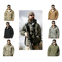 ingrosso abbigliamento impermeabile da caccia-Outdoor Sport Caccia Tattico Giacca o pantaloni Uomo impermeabile antivento Abbigliamento TAD Escursionismo Pesca Camping Abbigliamento Sport Suit