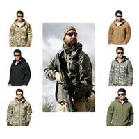 wasserdichte jagdkleidung großhandel-Outdoor Sport Jagd Taktische Jacke Oder Hosen Männer Wasserdichte Winddichte Kleidung TAD Wandern Angeln Camping Kleidung Sport Anzüge