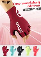 Wholesale men half gloves - GIYO Anti Slip Gel Pad Bicycle Gloves Gel Pad Short Half Finger Cycling Gloves Breathable Outdoor Sports Men MTB Bikes Gloves
