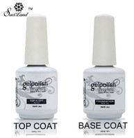Wholesale base top coat uv resale online - New Soak Off Gel Lacquer Professional ml Gelpolish Base and Top Coat Varnishes Primer Nail Art Uv Gel Nail Polish