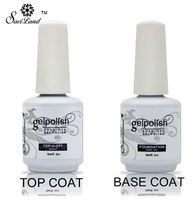 esmalte en gel uv nail art 15ml al por mayor-Nuevo Soak Off Gel Lacquer Professional 15ml Gelpolish Base y Top Coat Barnices Primer Nail Art Uv Gel Nail Polish