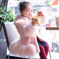 ingrosso vendita delle giacche invernali della neonata-Vendite calde 2017 Autunno Inverno Bambino Principessa ragazze Faux Fur Fleece Winter Warm Coat Jacket Girl Bambini Baby Clothing Girl