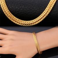 pulseras brazalete de oro amarillo al por mayor-pulsera para hombres pulsera para la joyería mujeres de los hombres de moda Rose pulseras en oro amarillo de la cola de zorra de color oro brazaletes H435