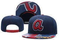 braves snapback großhandel-Braves A Brief Hysteresenhüte Männer Frauen Baseball Cap Schwarz Hip Hop Caps Chapeau Knochen Masculino