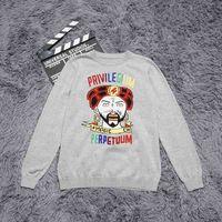 Wholesale magic wool - Top quality Winter Cotton sweater magic print High streets black m205