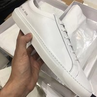 Wholesale project blue - Fashion wild Italy brand Common Projects Black white low top Shoes For Men Women Genuine Leather Casual Shoes flats Chaussure Femme Homme